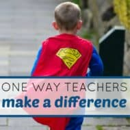 One Way Teachers Make a Difference