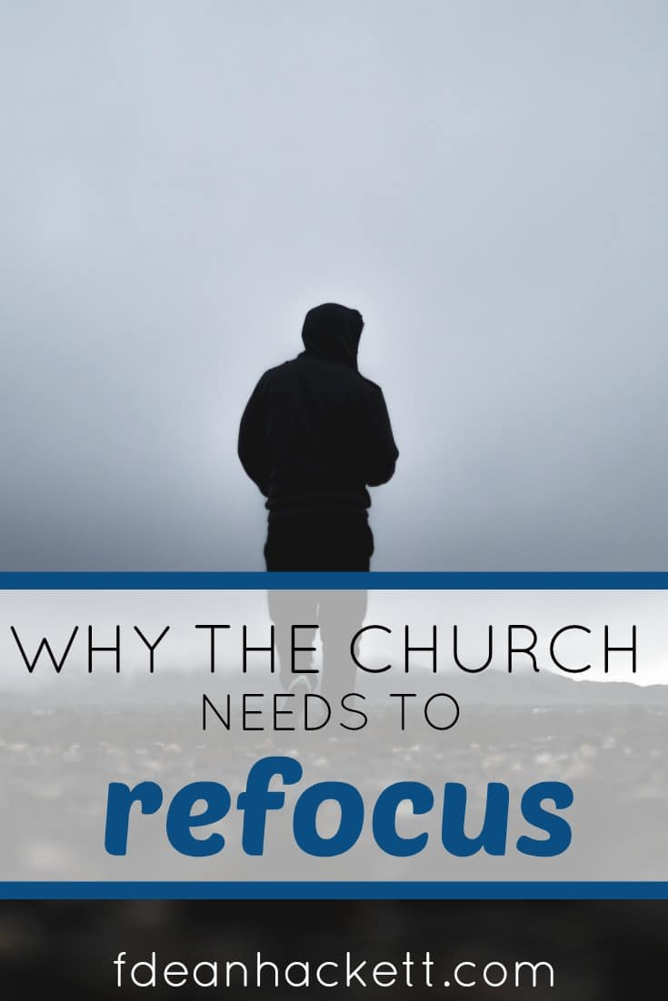 Here is why the church need to refocus on what is important and stop debating over little things that keep us distracted from our real goal.