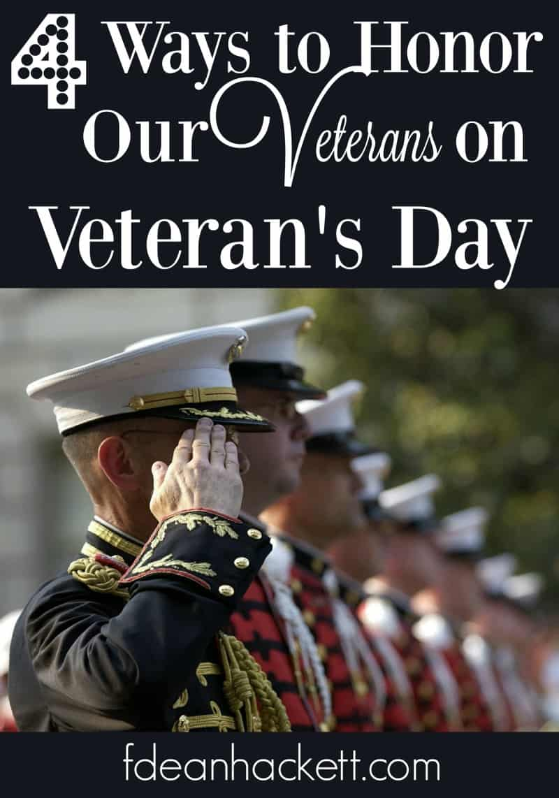 Here are 4 ways you can honor veterans on Veteran's Day.