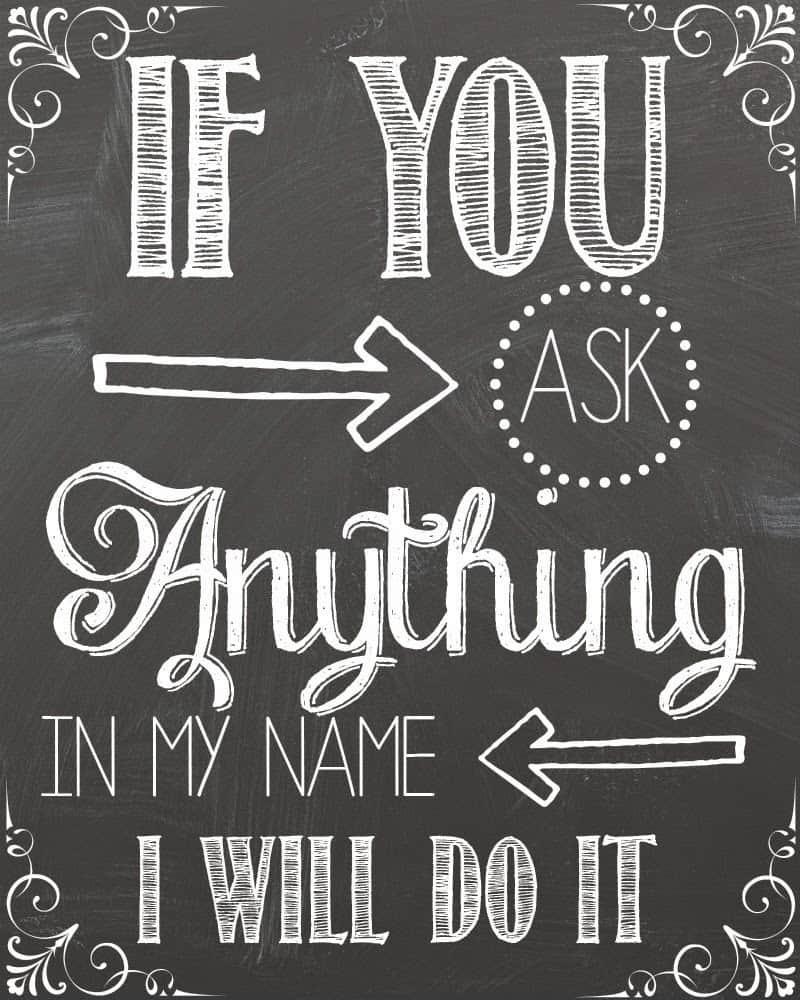John 14:13 Chalkboard Free Printable