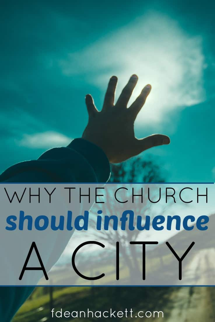 Here is why the church should be an influence in a city. God has ordained the church to be the first line of defense!
