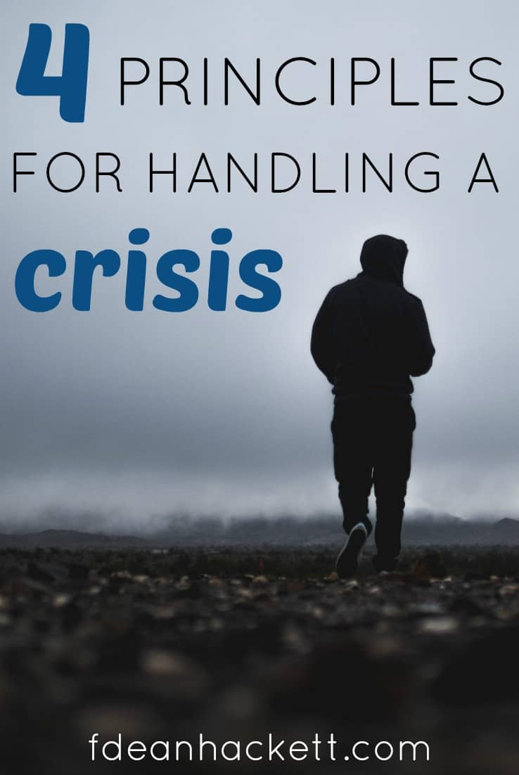 When facing a crisis there are 4 things we need to remember, because they will help us navigate our crisis to victory!