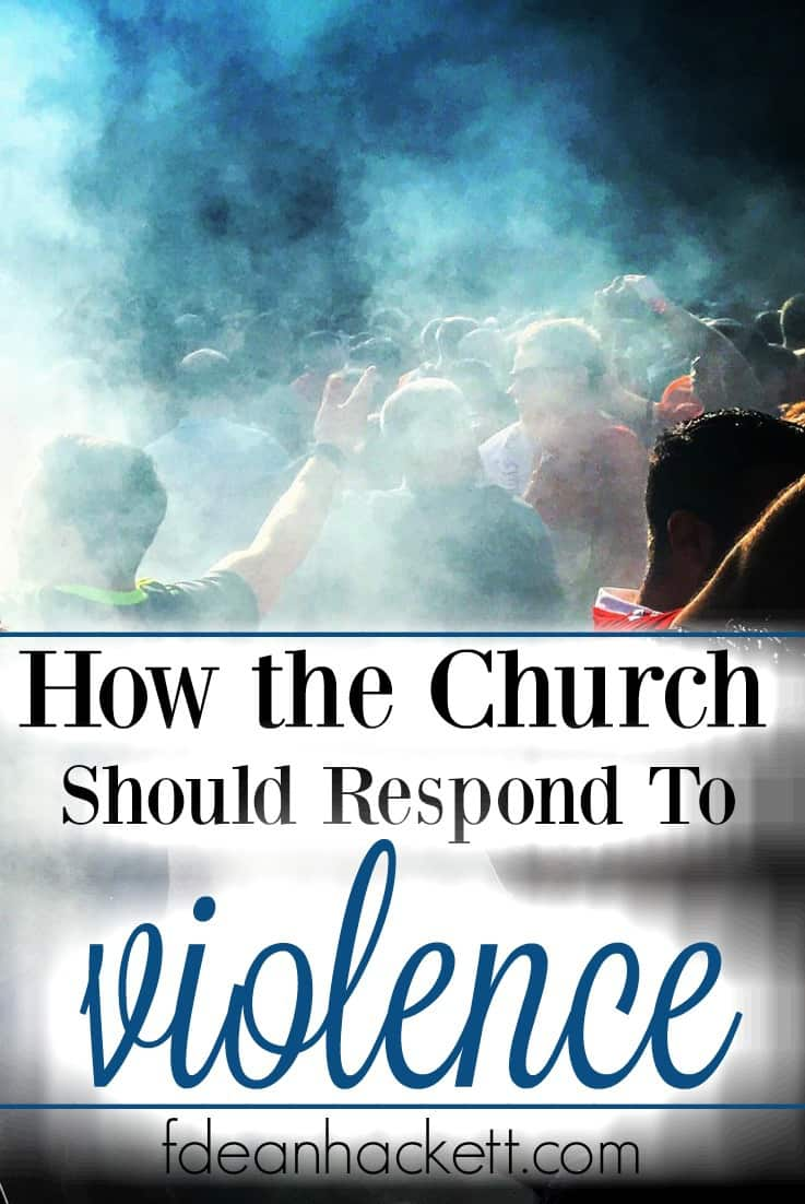 Here is how the church should respond when violence, rioting and division occur in her city.