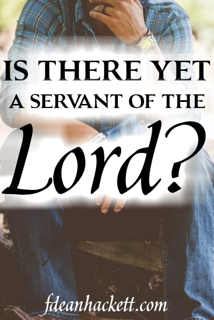 Is there yet a servant of the Lord who will take a bold stand against the idolatry and immorality that is overtaking our nation?