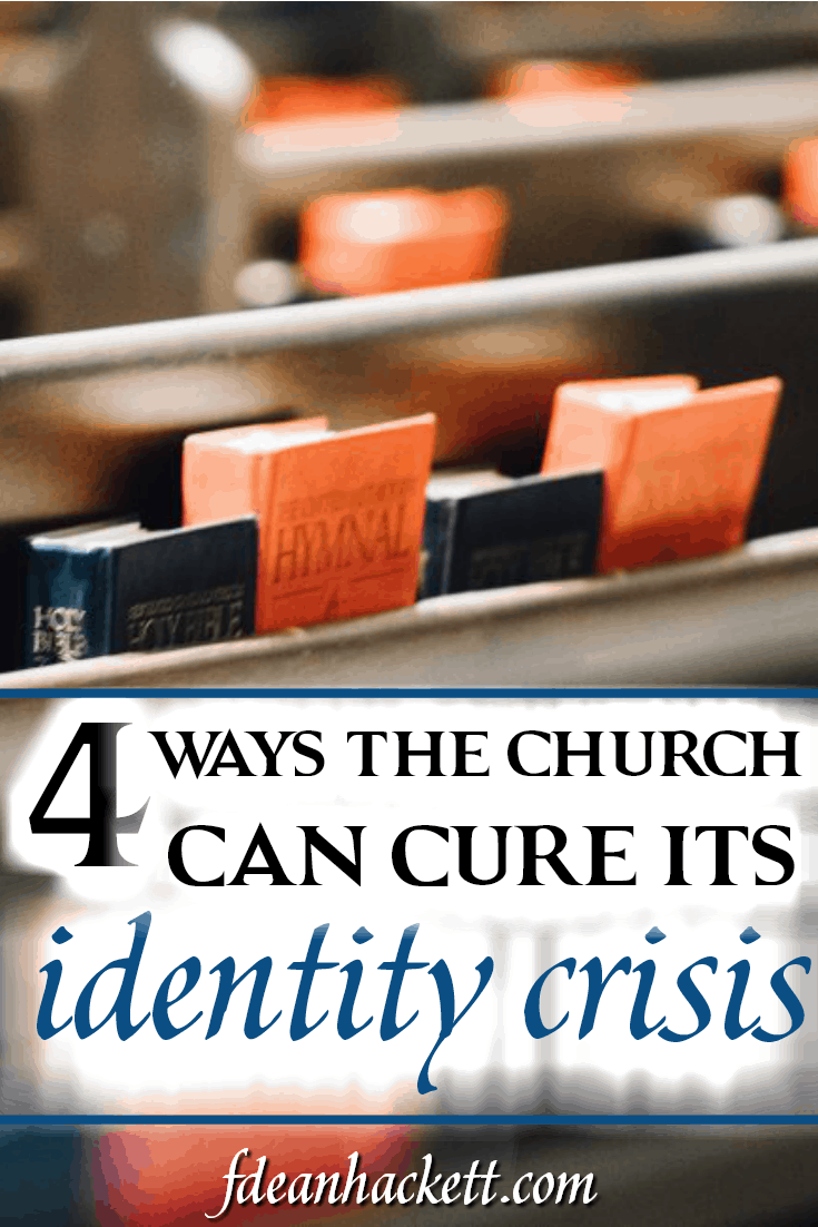 The church has lost its identity; instead of reflecting Christ, it reflects the culture around it. Here are 4 ways the church can cure its identity crisis.
