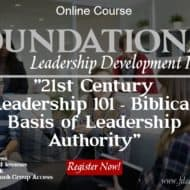 Biblical Leadership in the 21st Century