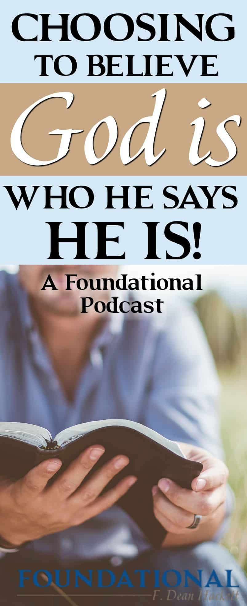 "Choosing to Believe God Is Who He Says He Is. If you struggle with believing God, this podcast series on ""You Win Or Lose, Its Your Choice"" is for you. Learn today about how Moses teaches us how we can believe God is who He says He is."
