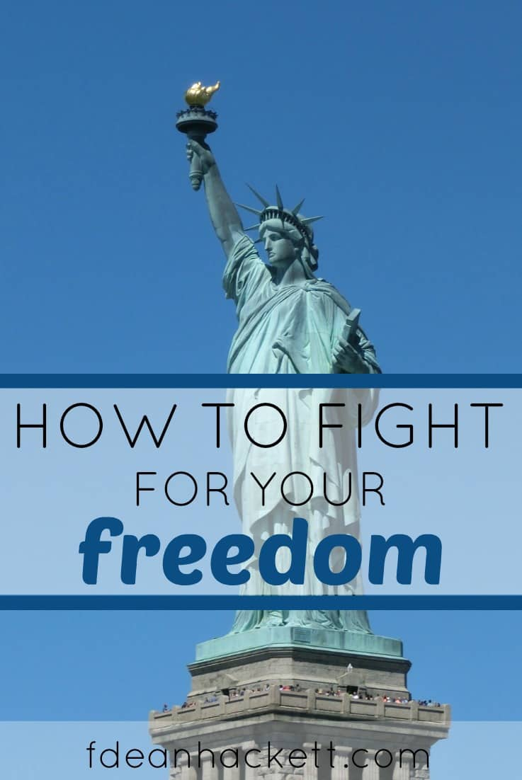 Here is how you can fight for freedom without having to go to war. It is our right and responsibility to keep America free. Here's how you can do your part!