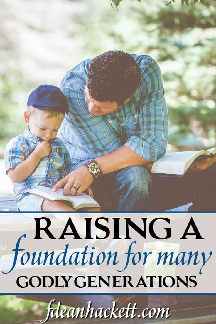 How can we raise up a foundation for many godly generations? In this article I share my story about why we decided to homeschool early in the 1980s.