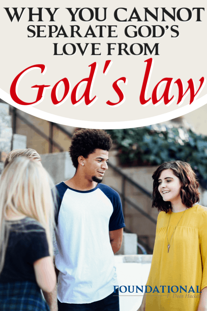 Many Christians today say that we are not obligated to keep God's law because we're under grace. Here is why you cannot separate God's love from God's law. #foundational #law #godslaw #Oldtestament #Bible