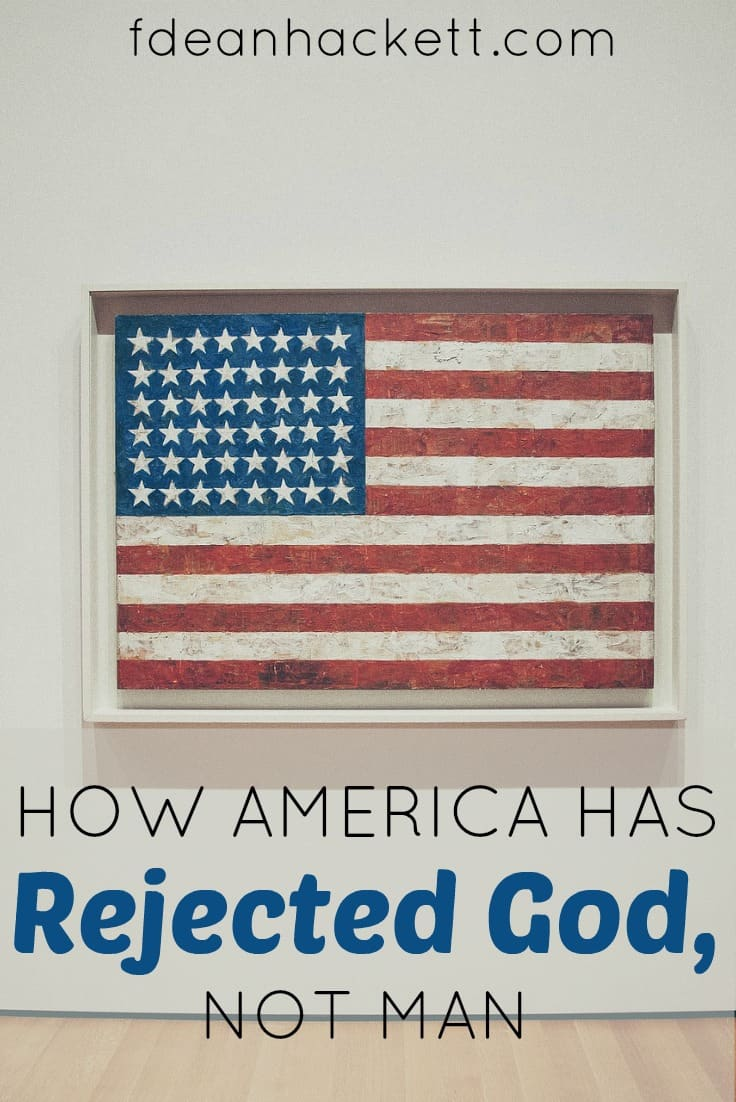 America has rejected God, not man. This election season has shown that very clearly. And the Bible isn't silent on what we should do.