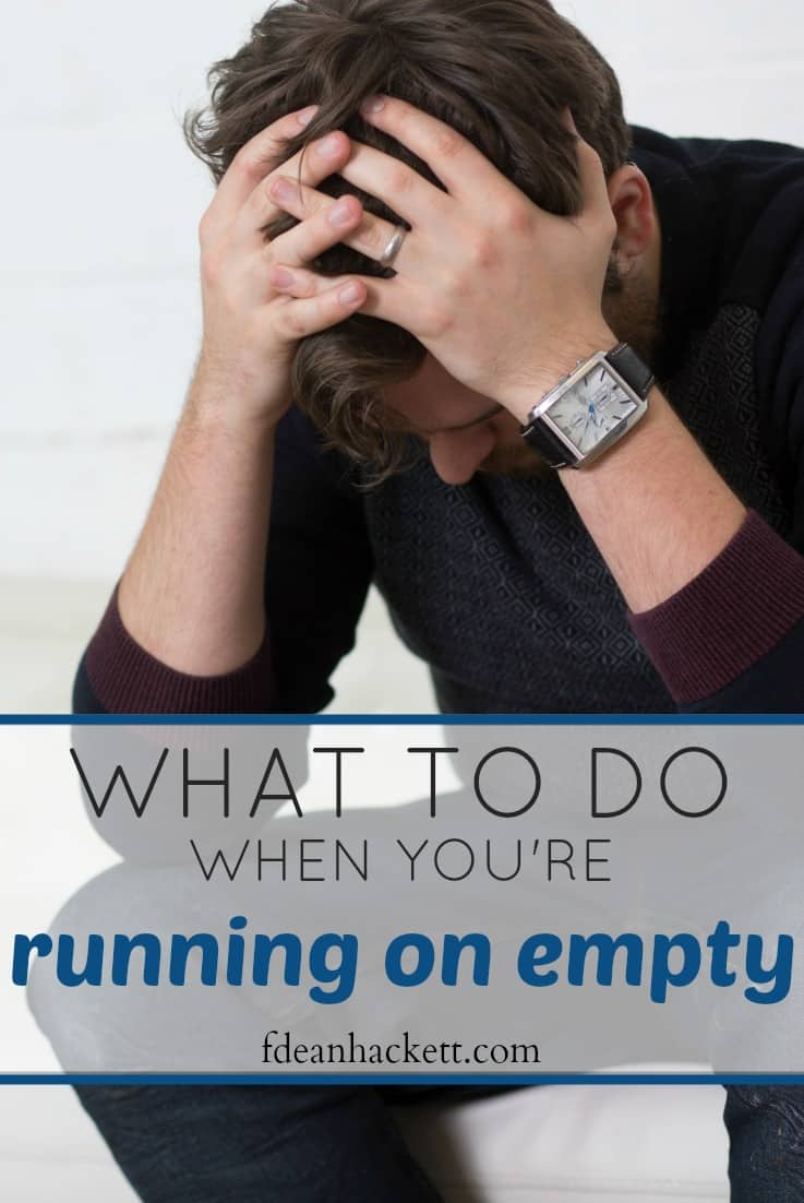 Here is what we must remember when we're running on empty; feeling burnout is near. If we follow this advice we'll always be full of energy for the Lord!