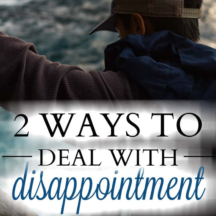 Disappointment is something we will all experience in life, and many times throughout our life. How we deal with disappointment when it comes will determine whether or not it becomes a stepping stone to greater maturity or the thing that becomes our future and our identity.