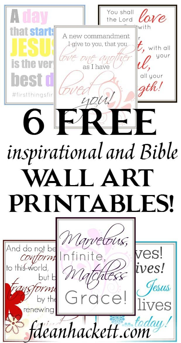 These are so beautiful! I downloaded them all. Grab these 6 inspirational and Bible wall art printables for your home or war room today!