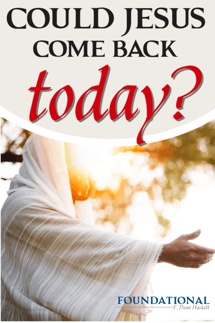 What would you do differently if you knew Jesus would come back today? This is the most important question the church should be asking herself right now. #Foundational #secondcoming #Jesus #church