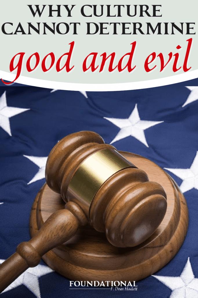Judges gavel on an American flag