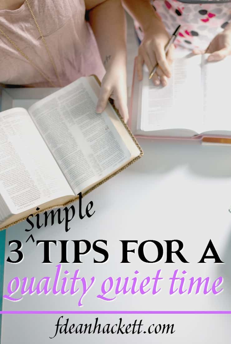 I love these tips! My quiet time was really lagging, but these simple tips for a quality quiet time were a real game changer for me!