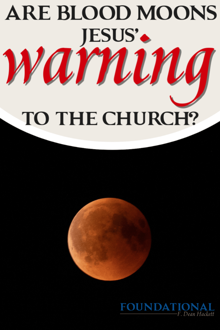 Since 2014 we've witnessed several blood moons that correspond with major Jewish events and holidays. Are blood moons Jesus' warning to the church? #foundational #bloodmoons #eclipse #prophecy #jewishhistory #rapture #Jesussecondcoming