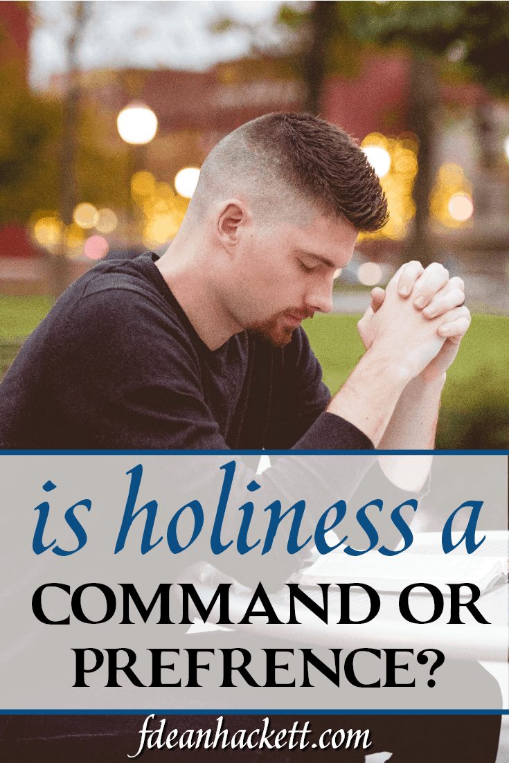 The question facing the church today is if a message of holiness lacks grace and lack. Is holiness a command or just a preference?