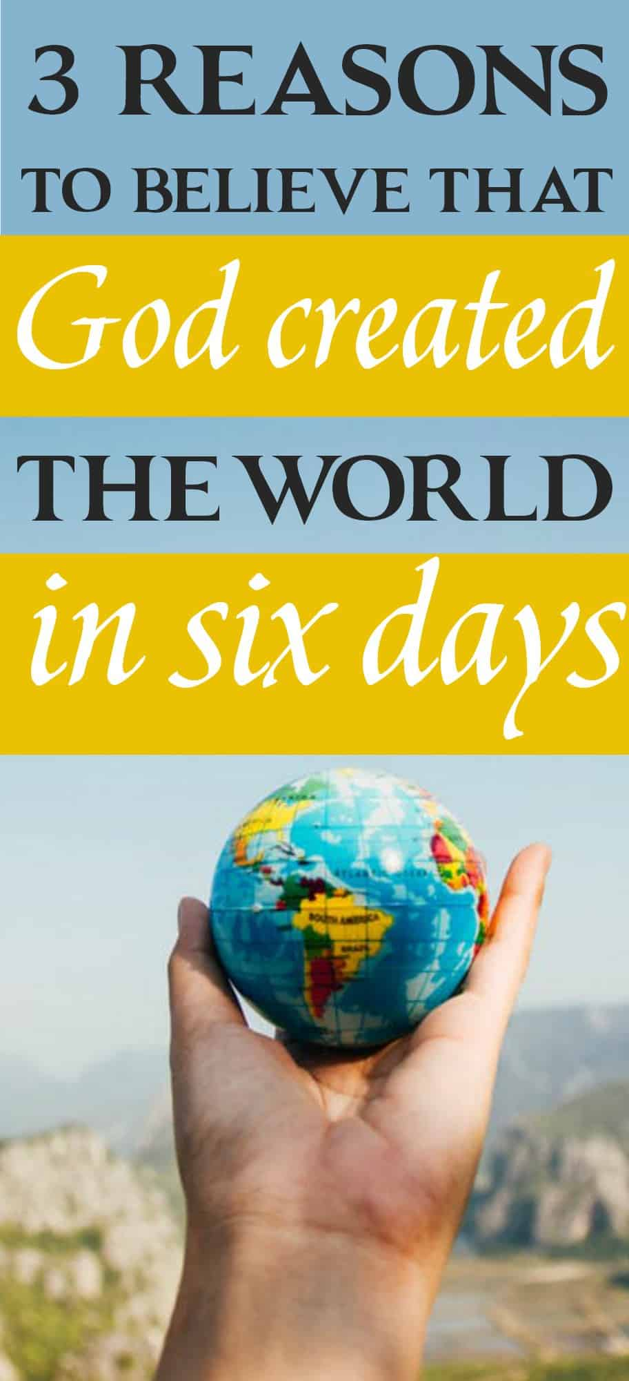 Is it significant that God created the world in six literal days and rested on the seventh day? Why not consider those as seven eras of time? Here are three reasons to believe that God created the world in six days.