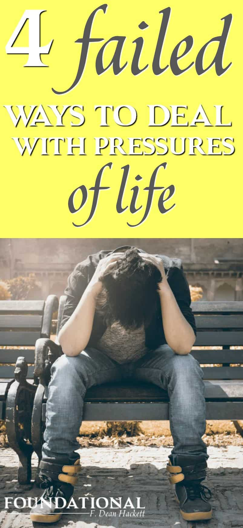 The way Christians deal with pressures of life is vital if they are going to live victorious Christian lives. #Christianliving #Bible #Spiritualgrowth #God #stress #kingdomofGod