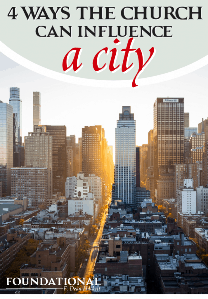 Here are 4 ways the church can influence a city and be the first line of defense against the plans of the enemy! Is your church doing these things? #Foundational #church #influence #city #spiritualauthority #spiritualwarfare