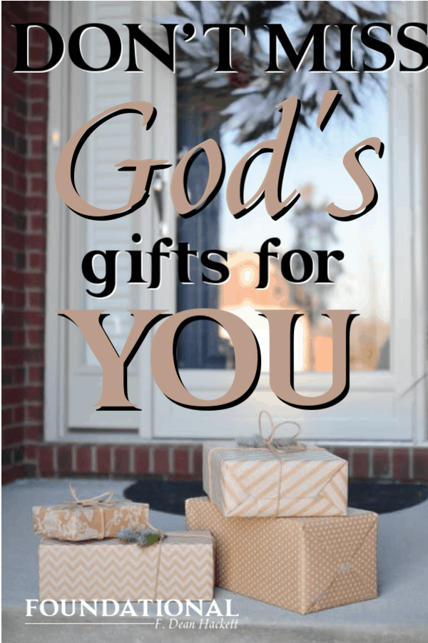 Perhaps God will wipe away every tear from our eyes because we had so many unopened gifts from God. Here's a reminder to not miss God's gifts to us. #Foundational #Gifts #Heaven #Jesus
