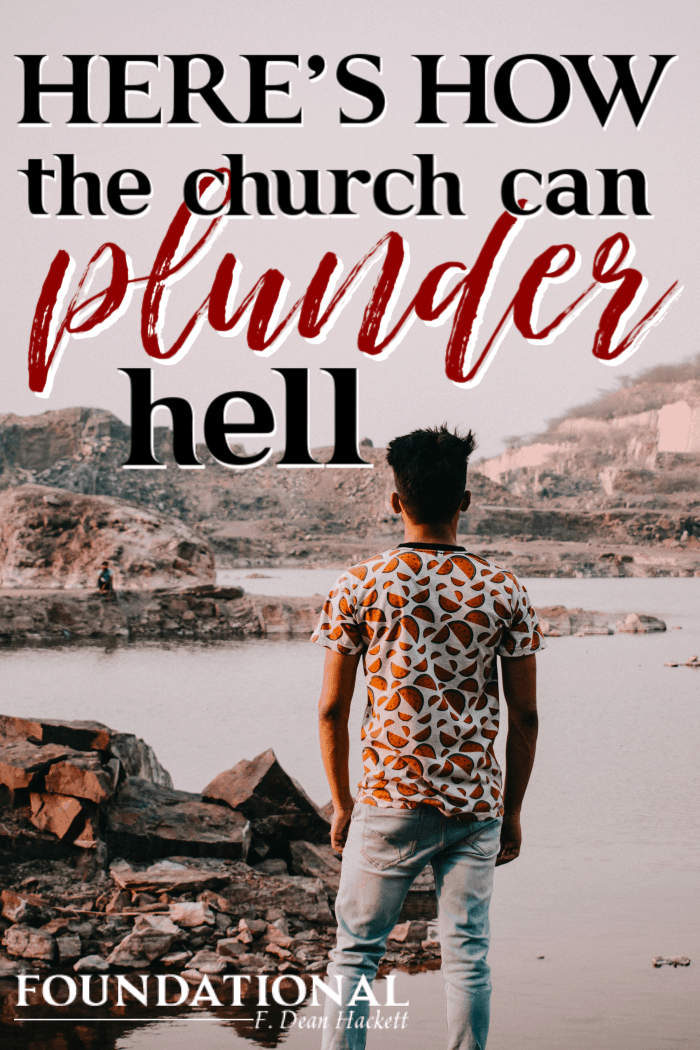 God designed the church to plunder hell so she can populate heaven. Here is the authority Jesus gave the church to plunder help and populate heaven. #foundational #spiritualwarfare #spiritualauthority #evangelism #Bible