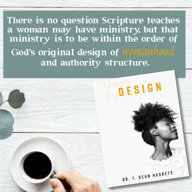 There is no question Scripture teaches a woman may have ministry, but that ministry is to be within the order of God's original design of womanhood and authority structure. #alittlerandr #womeninministry #women #genderroles #preach #church