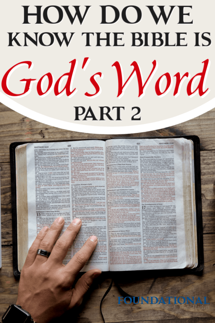 Today's podcast is part two of a 3-part study on how we can be certain that the Bible is God's Word, not just the words of man or historical documentary. #foundational #Bible #God's Word #Gnosticism #Dan Brown #DaVinciCode