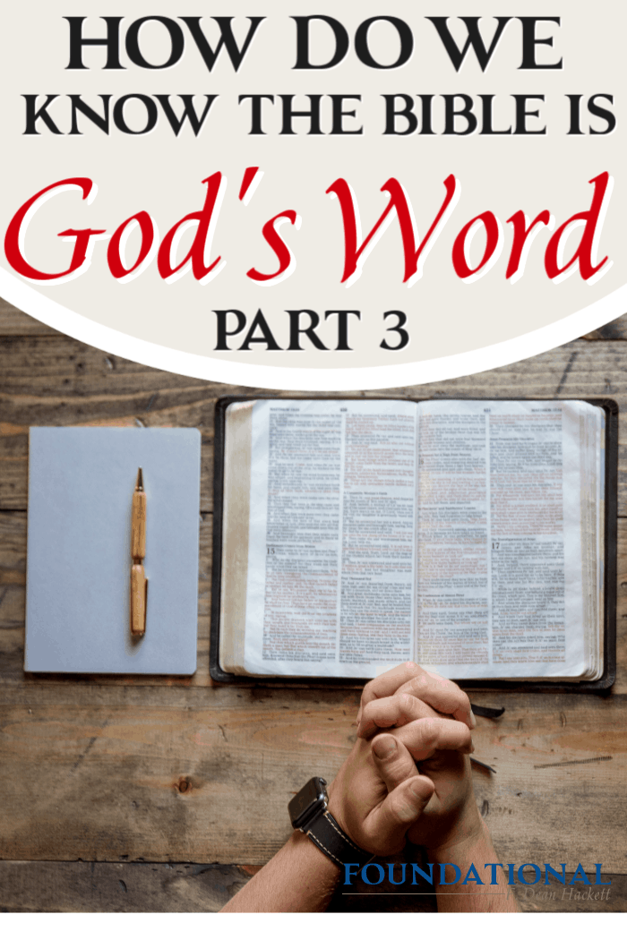 Today's podcast is part three of a 3-part study on how we can be certain that the Bible is God's Word, not just the words of man or historical documentary. #foundational #Bible #God's Word #Gnosticism #Dan Brown #DaVinciCode