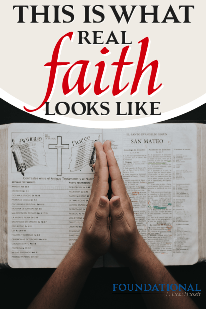 Faith isn't an emotion or a mental affirmation that something is true. Real faith looks like a complete assurance and surrender to God's Word as absolute. #Foundational #Bible #Faith #Podcast