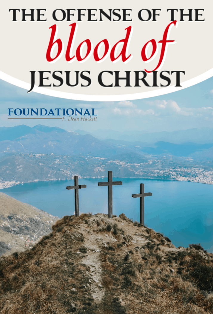While modern society rejects the idea of blood sacrifices, the blood of Jesus Christ still remains the only salvation for all of mankind. #Foundational #Jesus #Bible