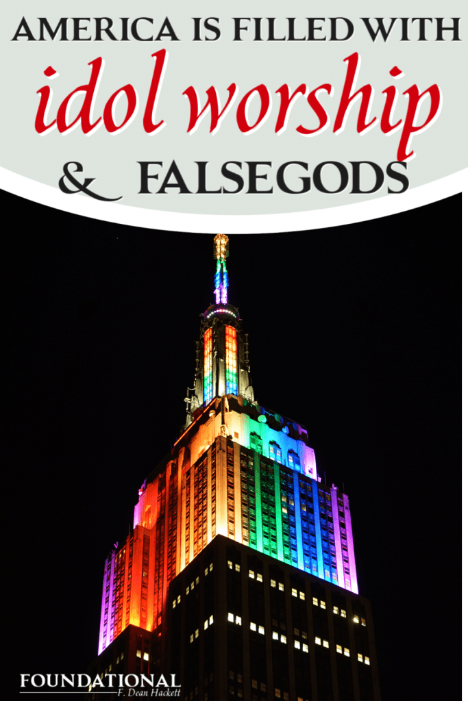 Empire State Building lit up for LGBT at night