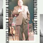 Pastor Dean Hackett preaching on a Sunday morning