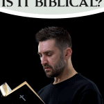 man in black long-sleeve t-shirt reading a Bible