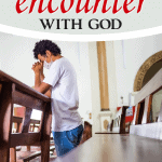 Person kneeling in church