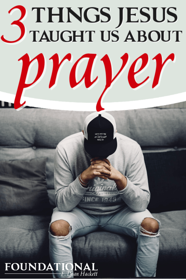 Person sitting and praying